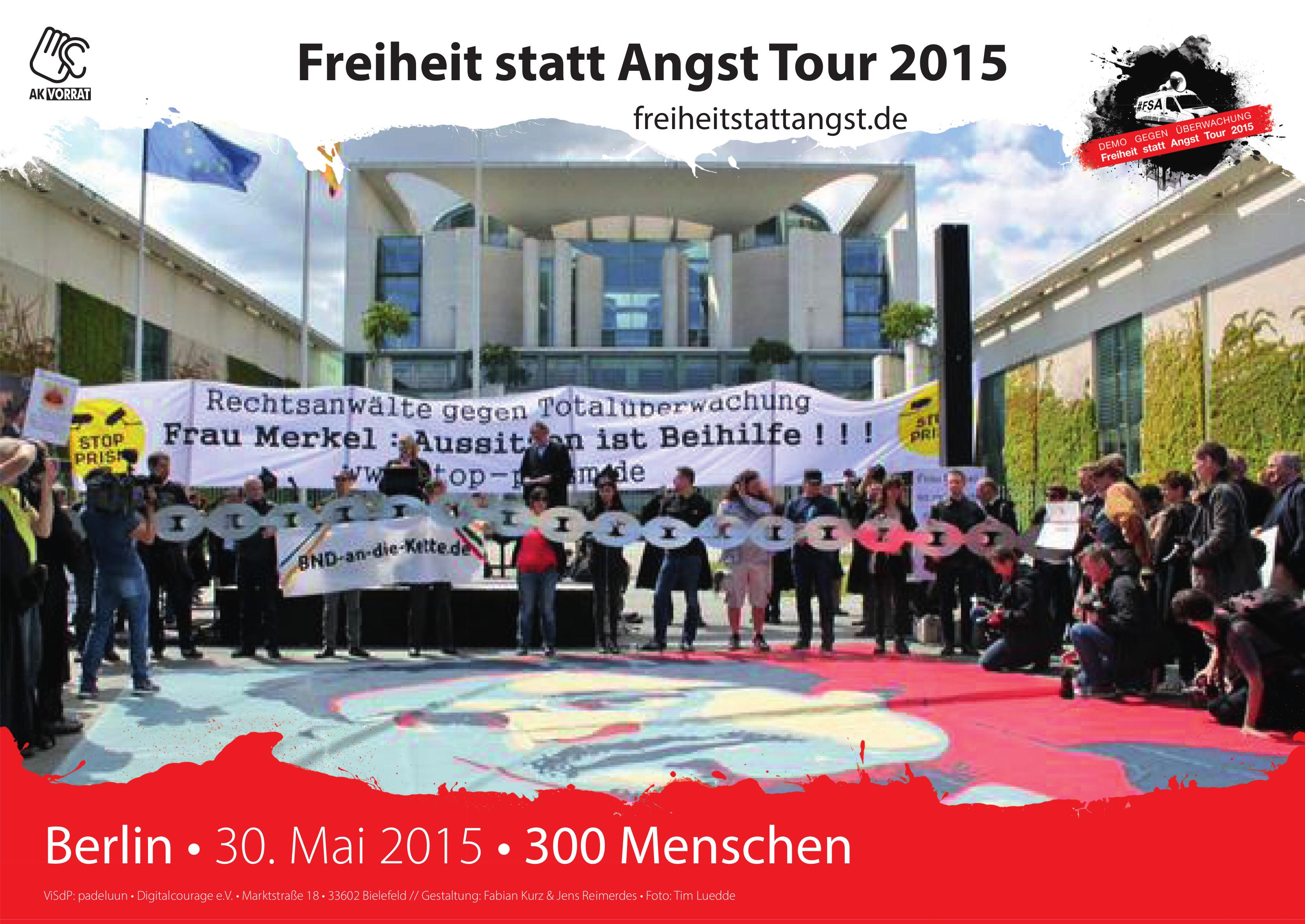 Erste Berlin-Station am 30. Mai 2015. Hauptfokus Rechtsanwälte.