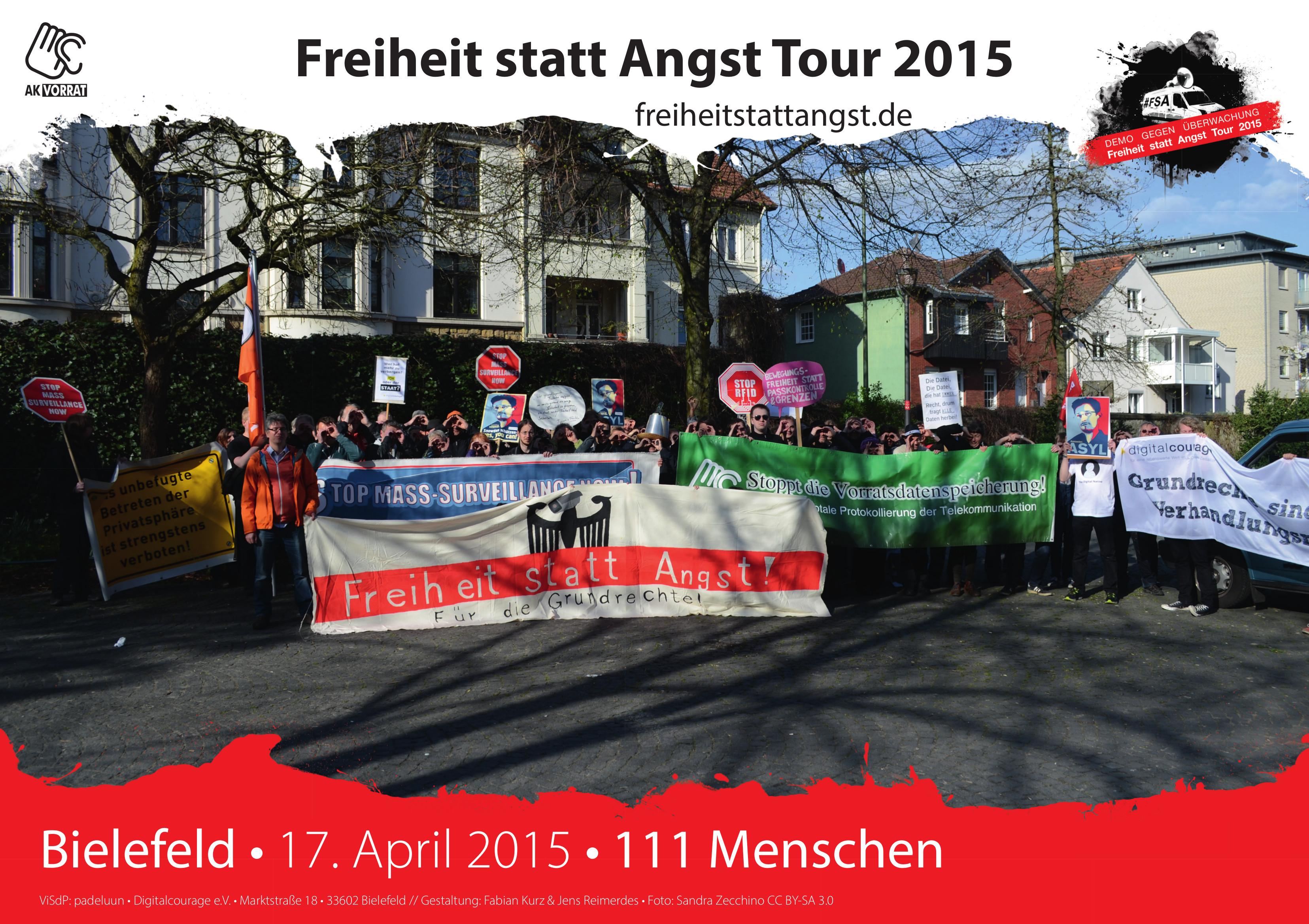 Der Auftakt in Bielefeld am 17. April 2015