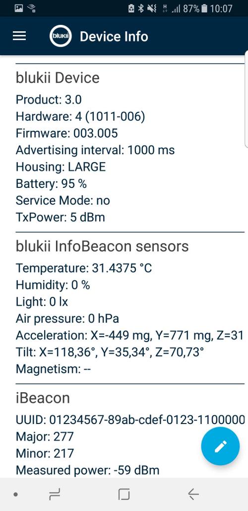 Mit der blukii-App konnten wir ohne Weiteres die Daten aus padeluuns Transponder auslesen.
