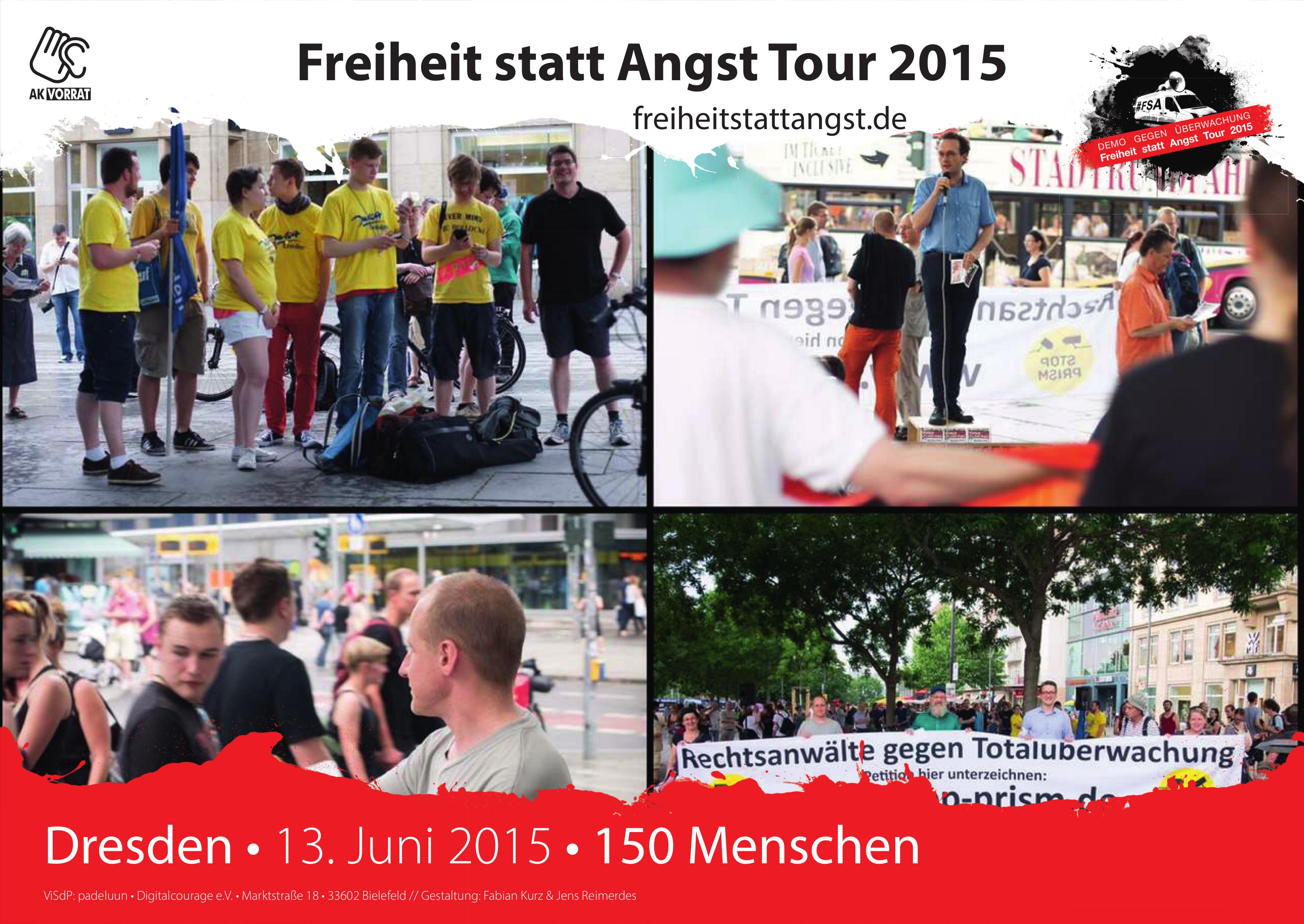 Der 13. Juni 2015 in Dresden.