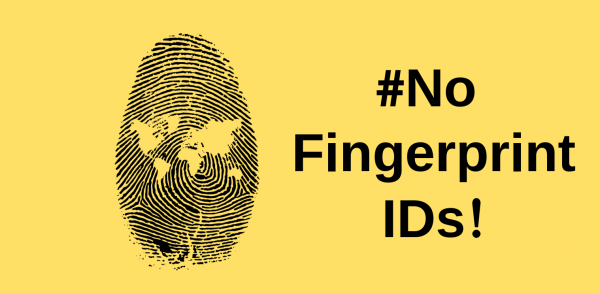Fingerprint with #NoFingerprintIDs