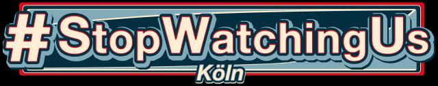Logo #StopWatchingUs Köln